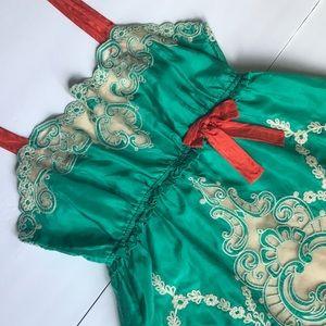 Yoana Boraschi Anthropologie Silk Lace Top Sz XS